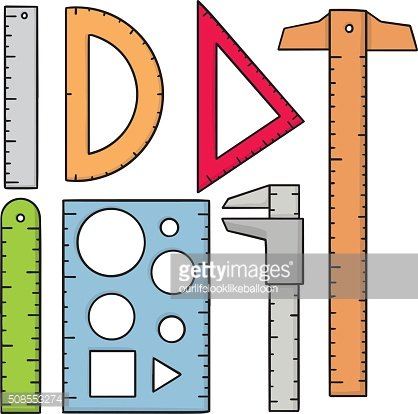 vector set of ruler