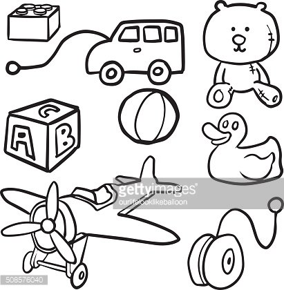 vector set of toy