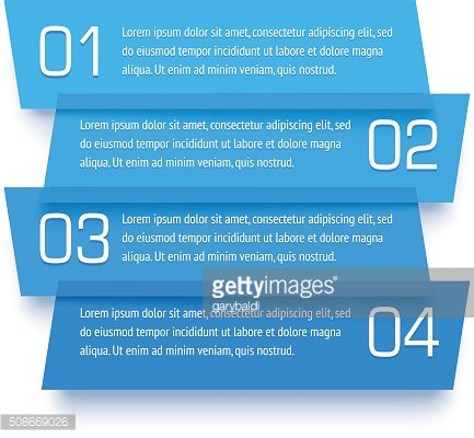 Vector infographic template. Set of transparent plastic banners
