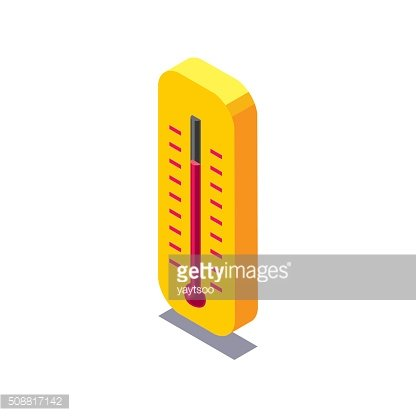 Vector isometric thermometer icon