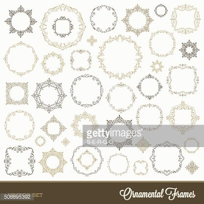 Set of flourishes ornamental frames