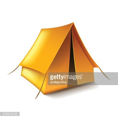 Tent isolated on white vector