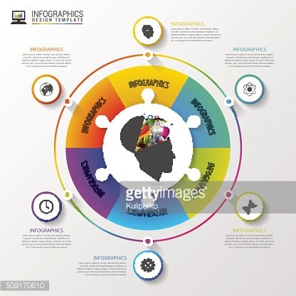 Vector circle infographic. Template for diagram. Vector