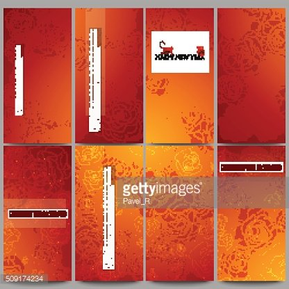 Set of modern flyers. Chinese new year background. Floral design