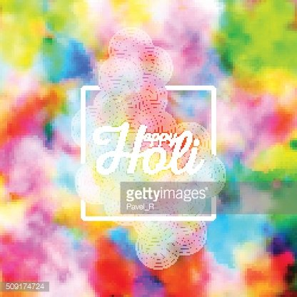 Colorful background for Holi celebration, vector illustration