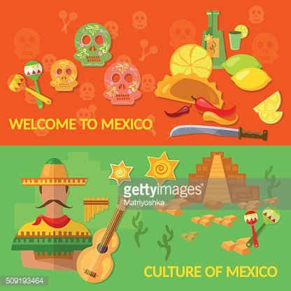 Welcome to Mexico banners Mexican culture and Mexican food