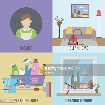 Cleaning service and cleane tools
