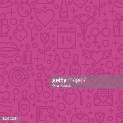 Valentines Day Love seamless pattern