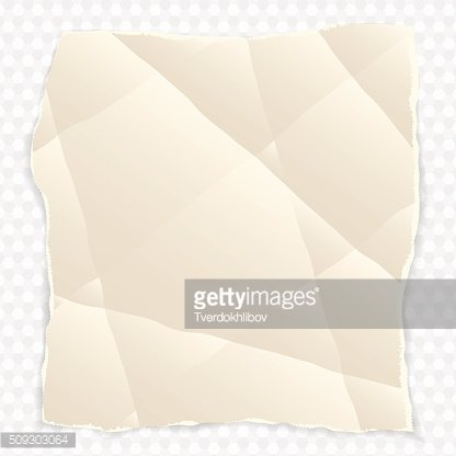 crumpled piece of paper with torn edges