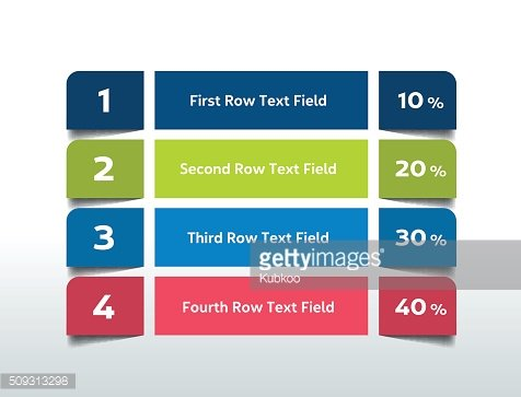Table Chart Schedule Infographics Elements Clipart Image