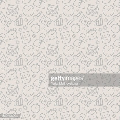 Time management seamless pattern.