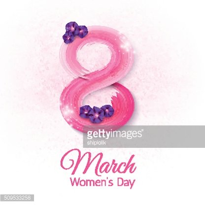 The eighth of March, International Women's Day,