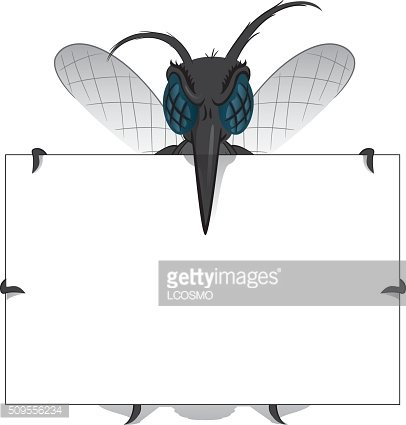 Aedes Aegypti Mosquito stilt holding poster Great