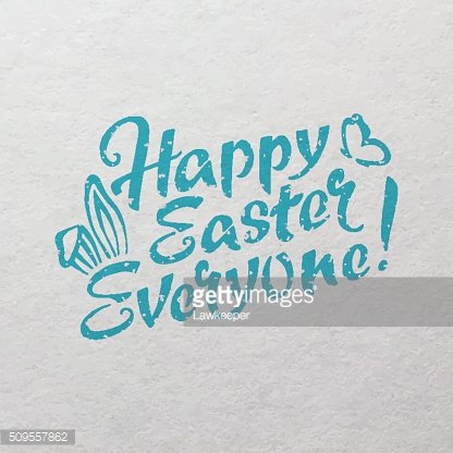 Happy Easter Everyone hand drawn lettering