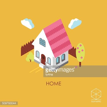 Color isometric vector icon House