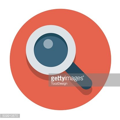Vector flat icons magnifier