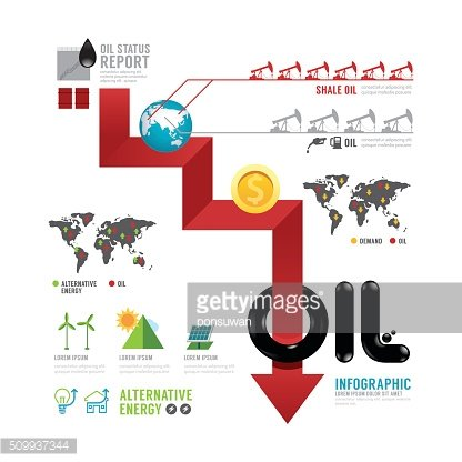 Infographic oil business of the world arrow concept with icons
