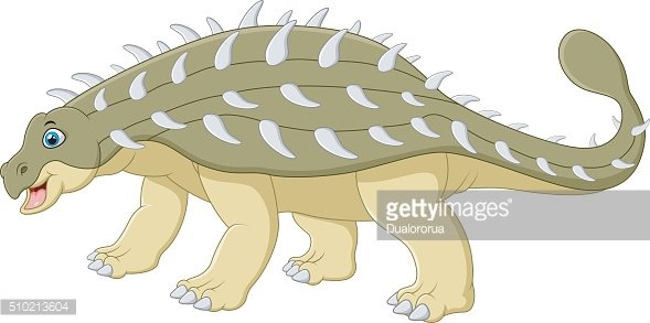 Cartoon happy ankylosaurus