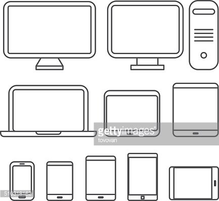 Different media devices collection