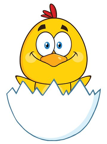Happy Chick Hatching from Egg premium clipart - ClipartLogo com