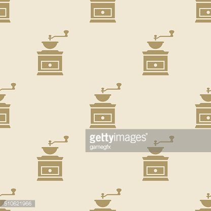 Coffee grinder mill pattern tile background seamless