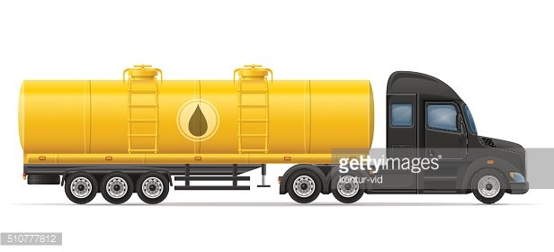truck semi trailer delivery and transportation of tank for liqui