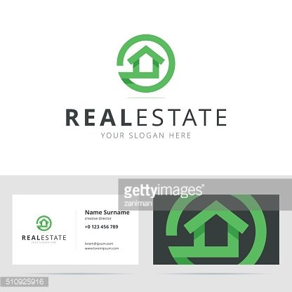 Real estate sign and business card template.