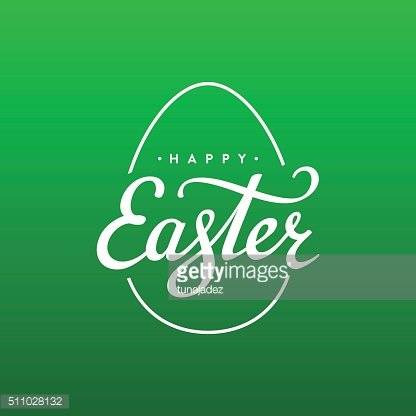 Easter egg background green