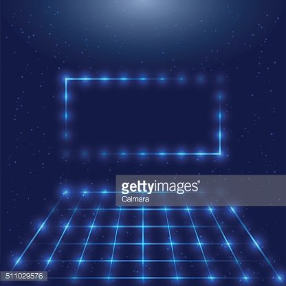 Frame with LED lights and space for your logo