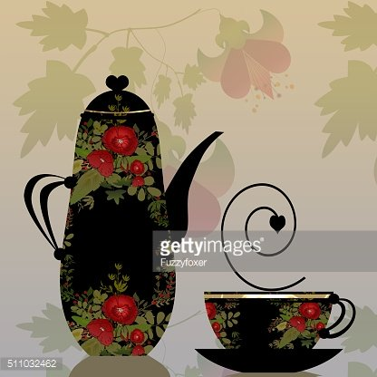 Black cup and pot