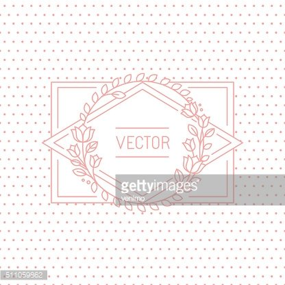 Vector wedding invitation design template with hand-lettering ph