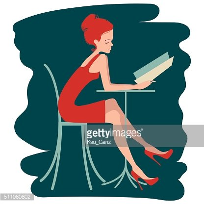 Woman Choosing from a Restaurant Menu