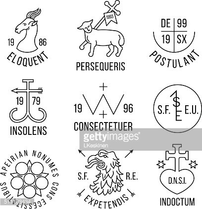 Ancient heraldry style emblems