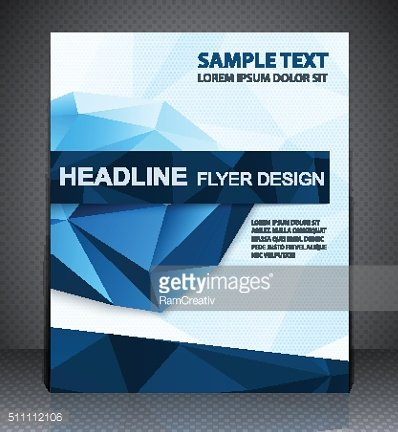 Abstract business brochure flyer, geometric design in A4 size