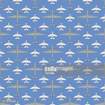 seamless pattern with military airplanes 03