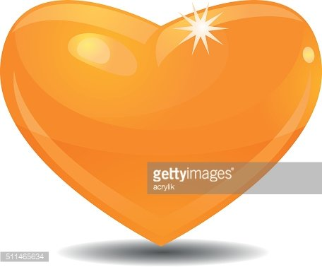 Golden heart vector icon