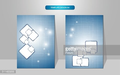abstract cover page template design rectangle pattern tech innovation concept