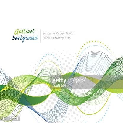 Green abstract modern wavy vector background