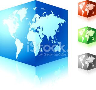 World map cubed