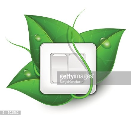 Light switch with foliage background