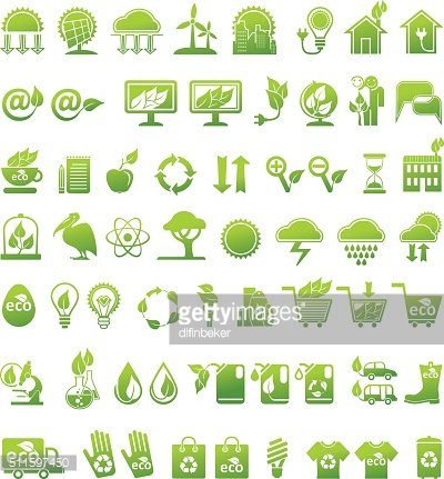 Vector icons set. Ecology.