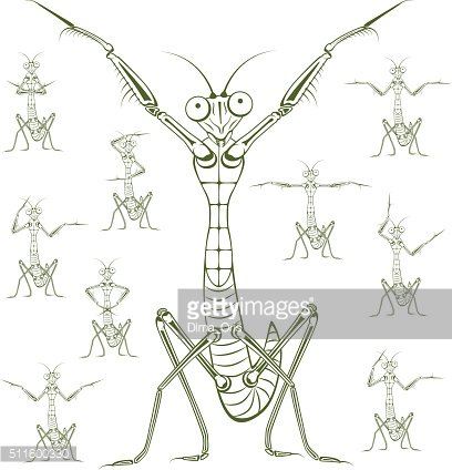 Cartoon character Mantis
