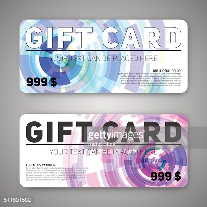 Set of gift (discount) cards
