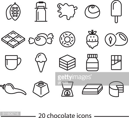 chocolate line icons