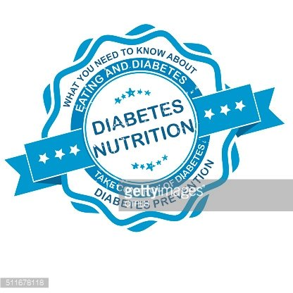Diabetes Nutrition grunge label