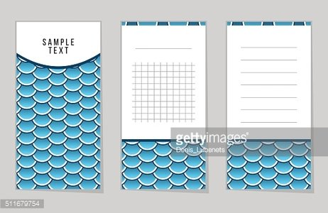 Collection of Fish Or Snake Scales notebook