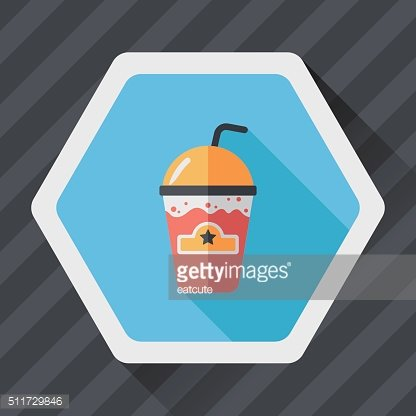 frappucino flat icon with long shadow,eps10