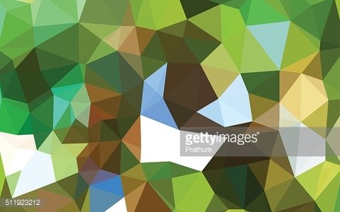 Colorful Green Abstract Pattern - Triangle pattern