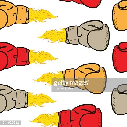 Seamless fiery boxing gloves