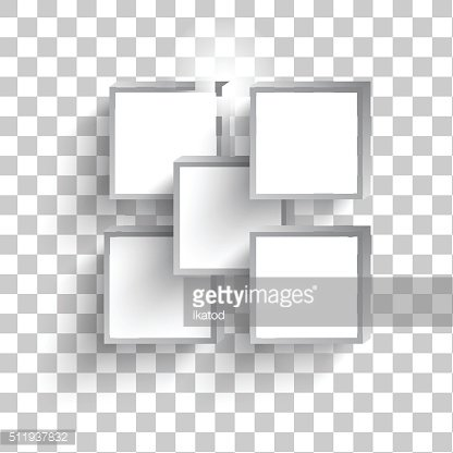 Vector white squares
